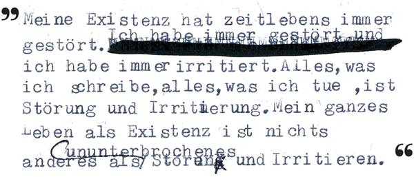 Zitat aus Der Keller, 1976