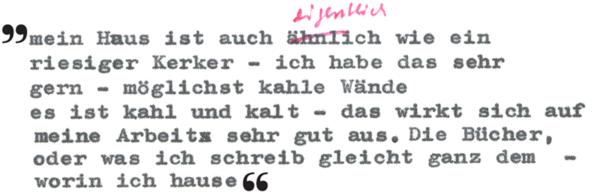 Zitat Thomas Bernhard, Die Presse, 24. Dezember 1965